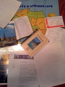 Un petit aperçu des journaux de voyages et autres souvenirs touristiques de mes grands-parents.